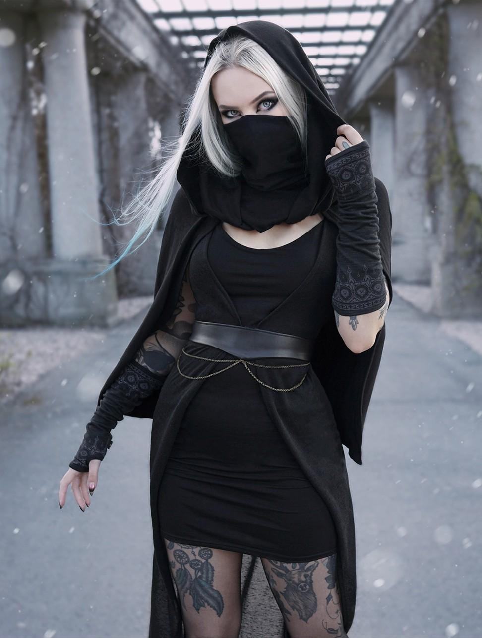 "Robe asymétrique \""Marrakech\"", Noir"