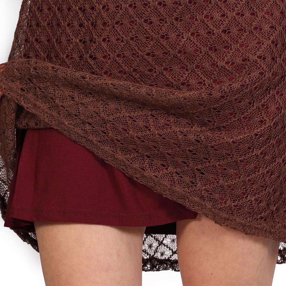 "Robe doublure crochet \""Alchemÿa\"", Bordeaux"