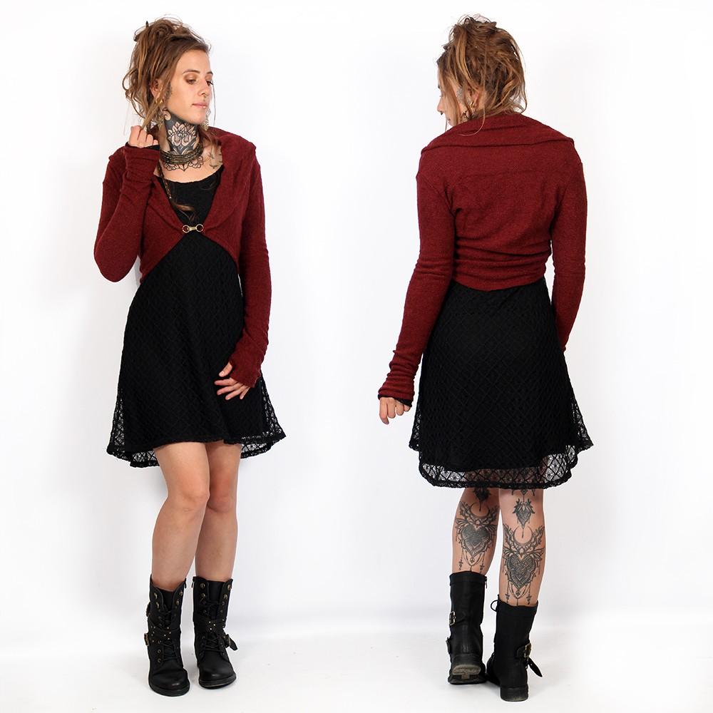 "Robe doublure crochet \""Alchemÿa\"", Noir"