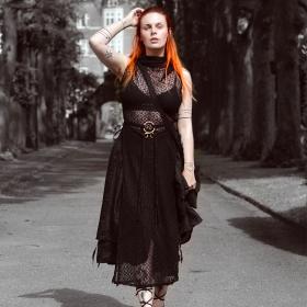 "Robe en crochet \""Nephilim\"", Noir"