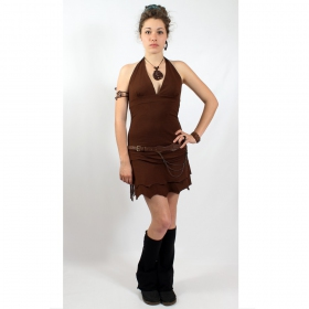 """Robe fairy floss \\\""""fringe\\\"""", marron"""