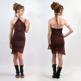 "Robe Flower Of Life ""Drop Lace\"", Marron foncé"