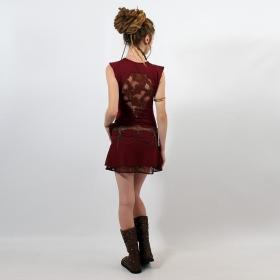 "Robe Liloo \""Jadeite\"", Rouge foncé marron"