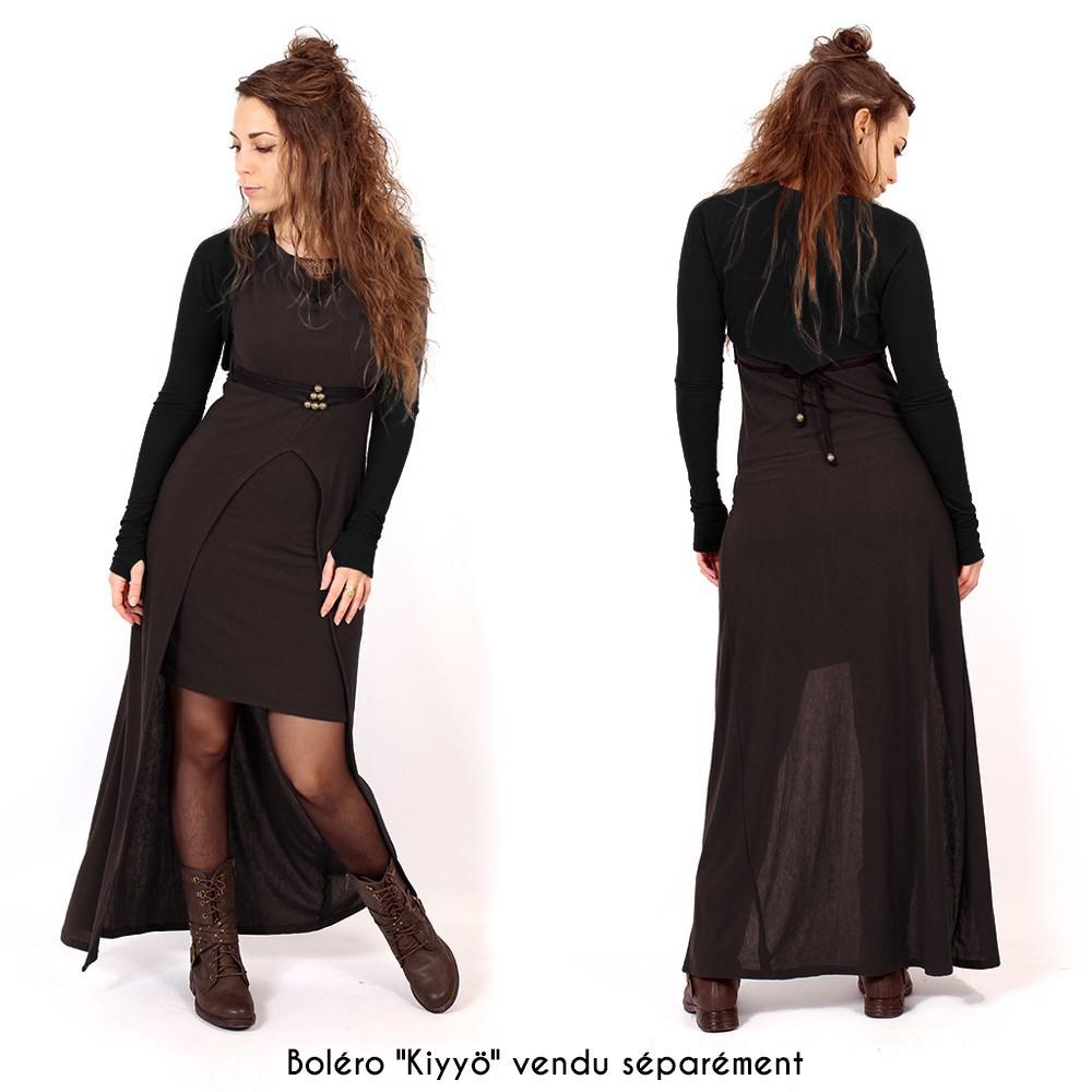 """Robe longue """"Azeälya"""", Marron"""
