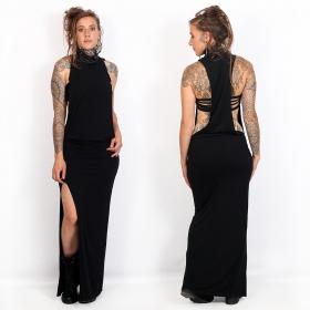 "Robe longue \""Elenna\"", Noir"