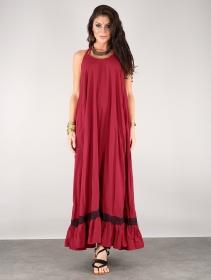 """Robe longue \""""Gaia\"""", Rouge foncé"""