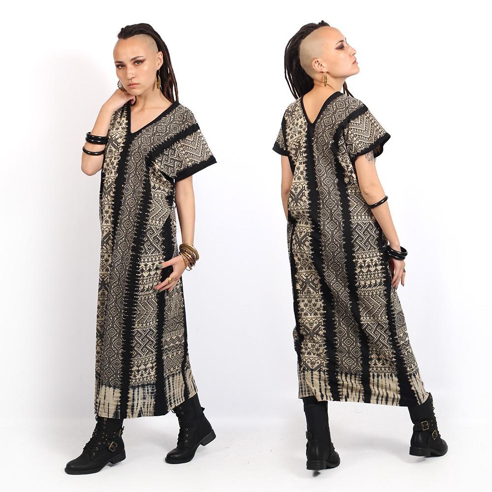 """Robe longue \""""Gypsy Mexico\"""", Noir"""
