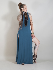 "Robe longue \""Ikshana\"", Bleu pétrole"