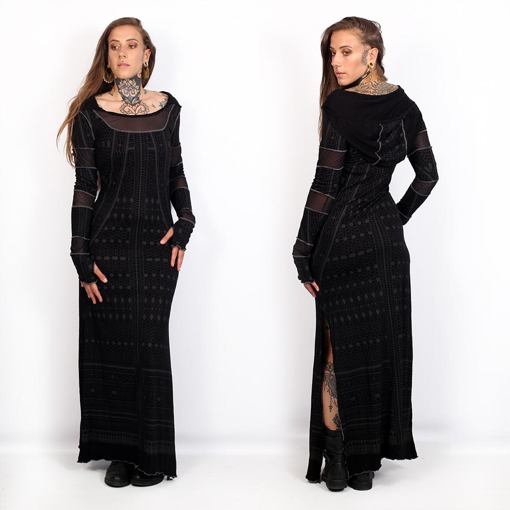"""Robe longue \""""Inanna Kalinga\"""", Noir"""