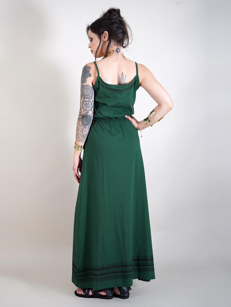 "Robe longue \""Indie Oromë\"", Vert forêt"