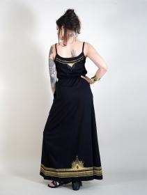 """Robe longue \""""Lotus Oromë\"""", Noir"""