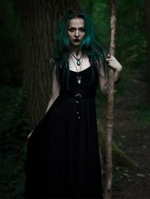 """Robe longue \""""Massaläa\"""", Noir"""