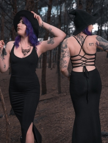 "Robe longue \""Sunee\"", Noire"