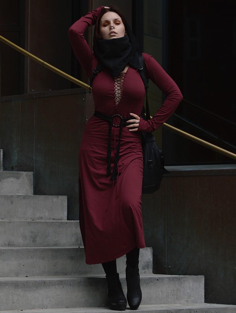"Robe longue \""Valkyrie\"", Bordeaux"
