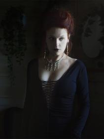"""Robe longue \""""Valkyrie\"""", Noir"""