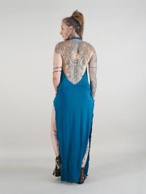 """Robe longue \""""Waheeda\"""", Bleu pétrole"""