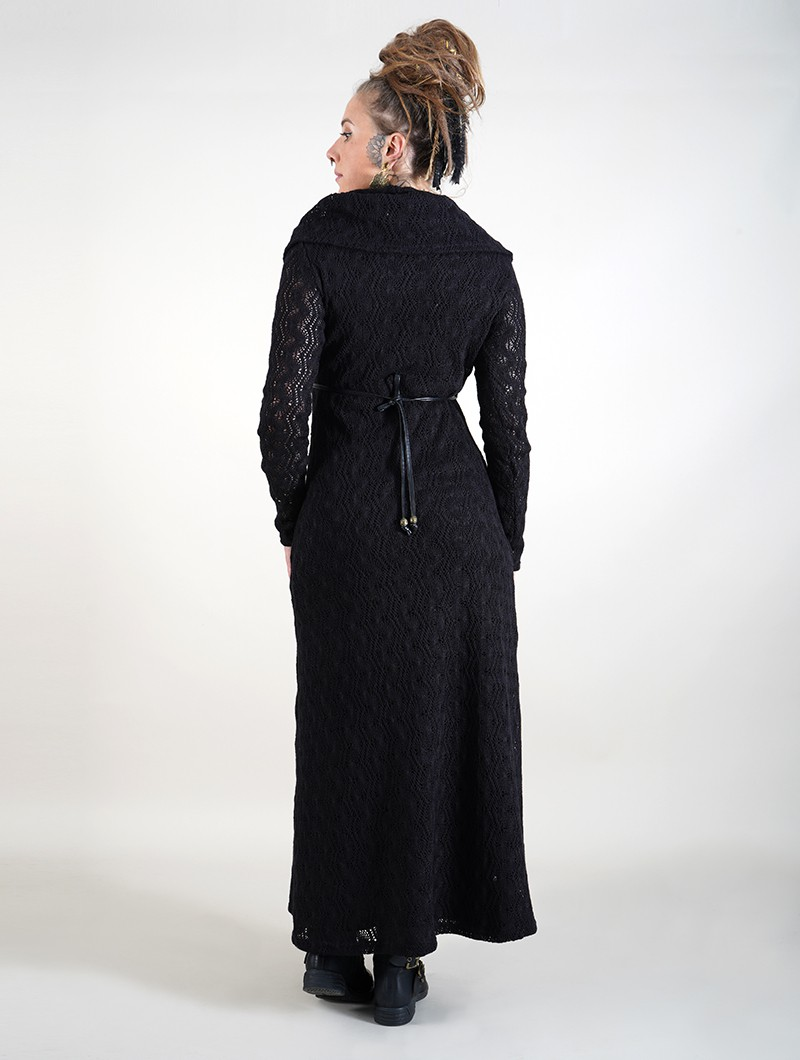 """Robe longue doublure crochet \""""Nouchka\"""", Noir"""