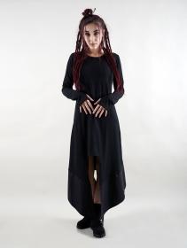 """Robe longue manche longue \""""Anat\"""", Noir"""