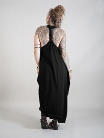 """Robe longue sans manches \""""Noéa\"""", Noir"""