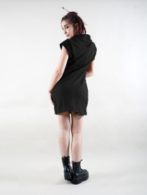 """Robe manche courte \""""Dewi\"""", Noir"""