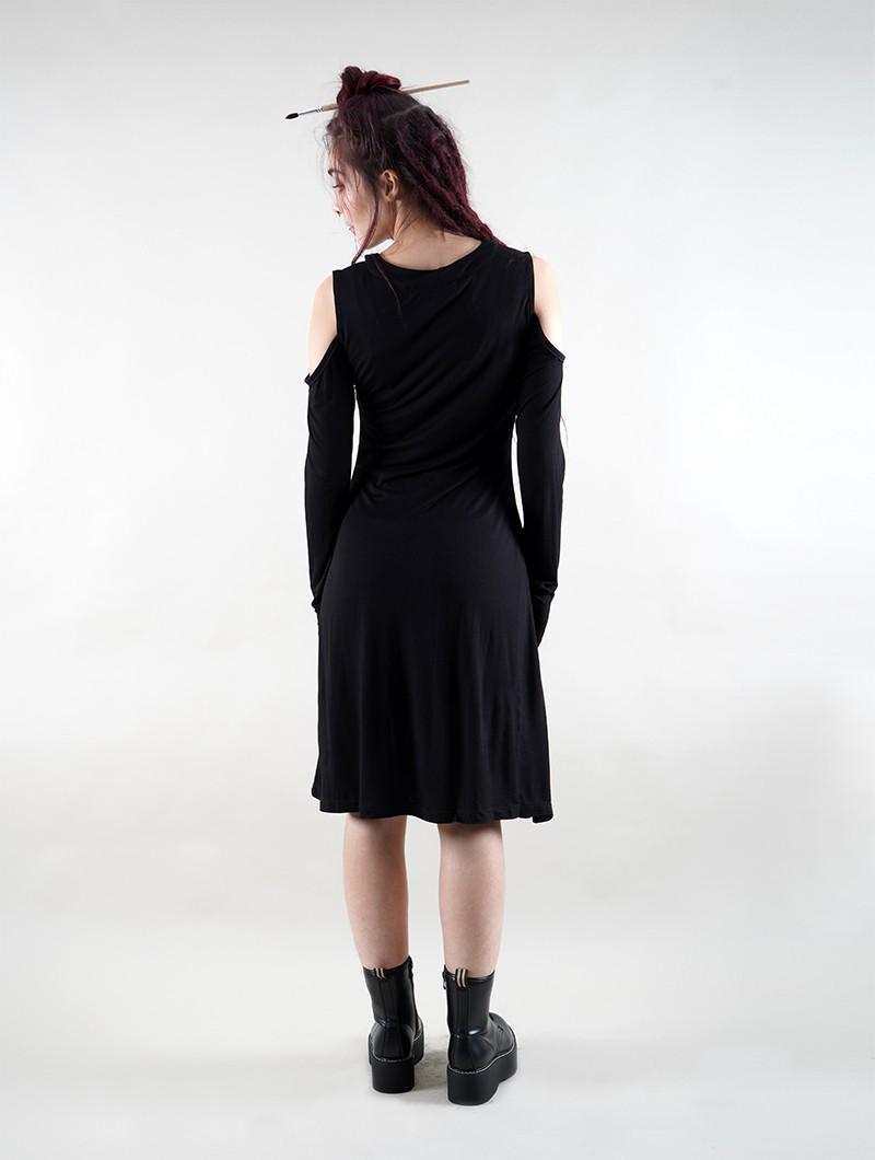 "Robe manche longue \""Leto\"", Noir"