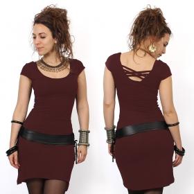 "Robe manches courtes \""Layläa\"", Bordeaux"