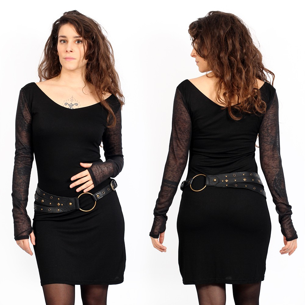 "Robe manches longues \""Oneïssa\"", Noir"