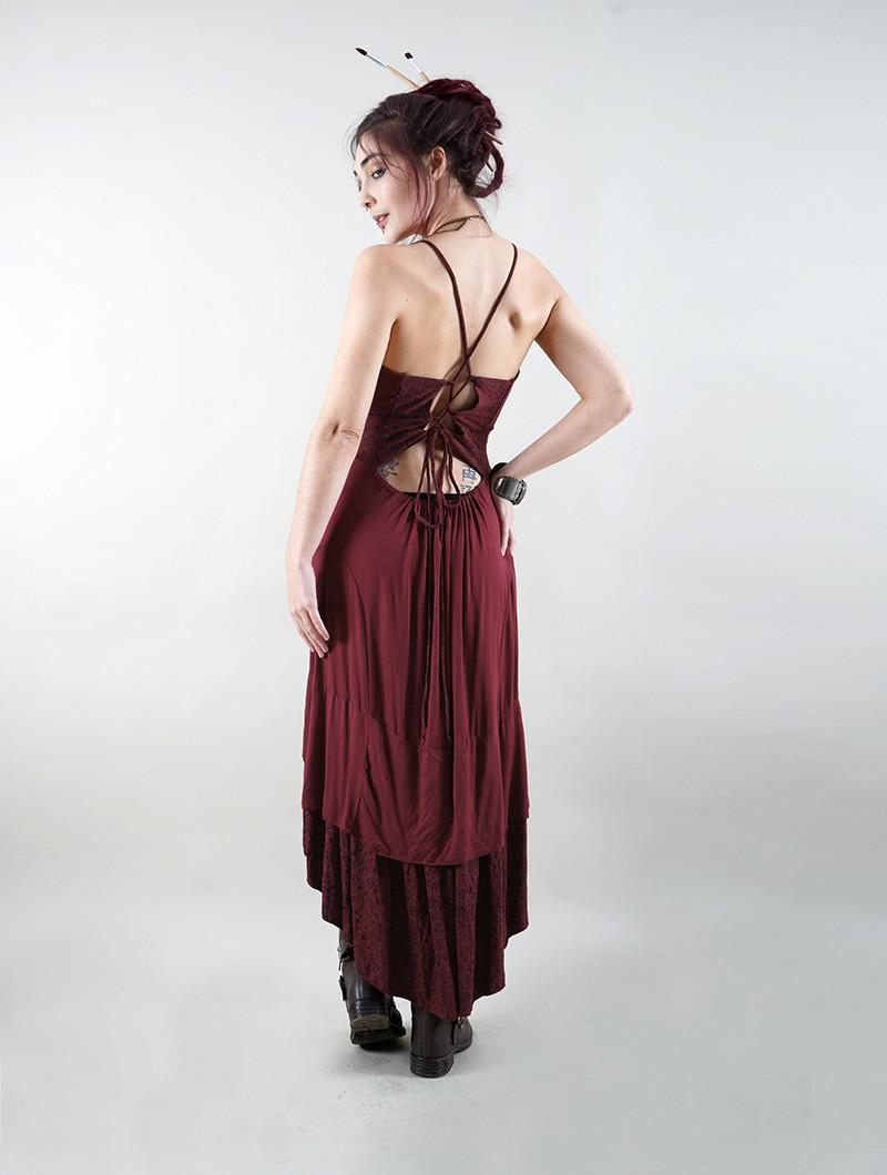 "Robe mi longue \""Nuria\"", Bordeaux"