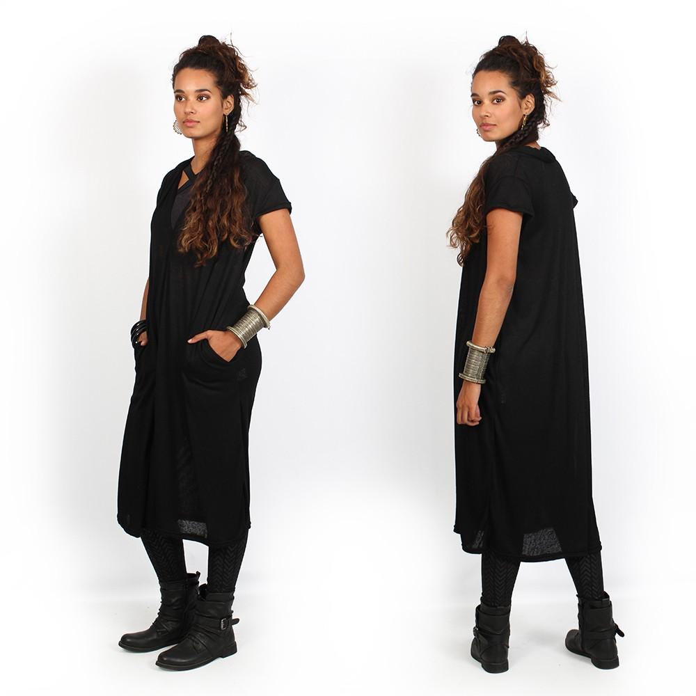 "Robe oversize \""Waraka\"", Noir"