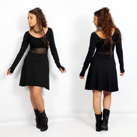 "Robe patineuse avec crochet \""Nymphea\"", Noir"