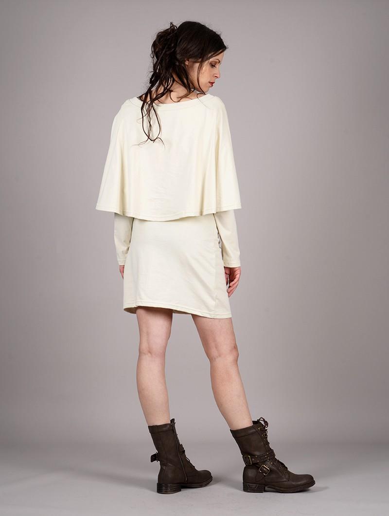 """Robe poncho \""""Yarayn Ethnic Arrow\"""", Beige"""