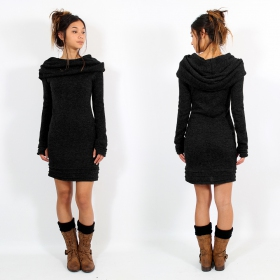 "Robe pull \""Chryzalide\"", Noir"