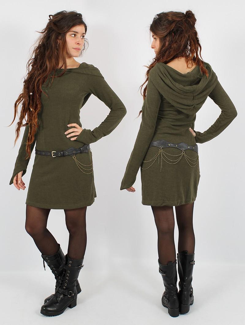 "Robe pull \""Karmäa\"", Vert kaki"