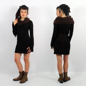 Robe pull bicouleur \\\'\\\'Shaë-Lï\\\'\\\', Noir et marron