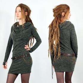 "Robe pull mi-saison \""Kali\"", Vert lichen"