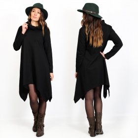 "Robe sweat ""Yousra\"", Noir"