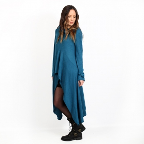 "Robe-tunique \""Kajula\"", Bleu pétrole"
