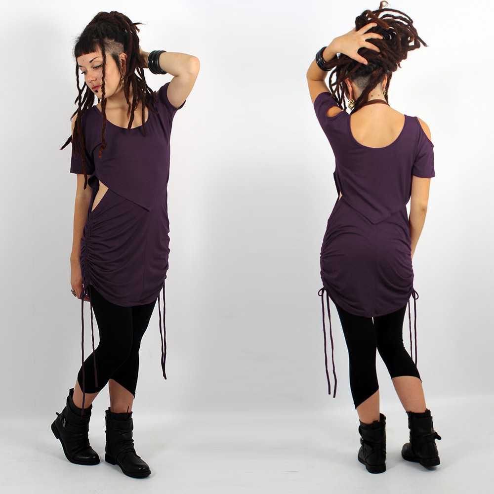 """Robe-tunique \""""Laality\"""", Violet foncé"""