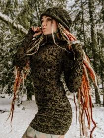 "Robe tunique \""Loba Cosmic\"", Vert"