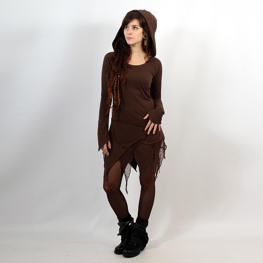 "Robe tunique Luna \""Knit Anya\"", Marron"
