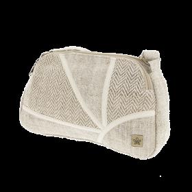 """Sac à main \""""Lumbini\"""", chanvre et coton sable"""