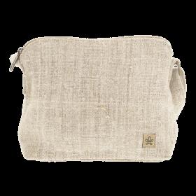 """Sac à main \""""Trishuli\"""", chanvre et coton sable"""