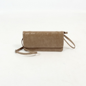 Sac à main aspect cuir \\\'\\\'Elakshi \\\'\\\', Marron clair
