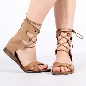 "Sandales \""Ashna\"", Camel"