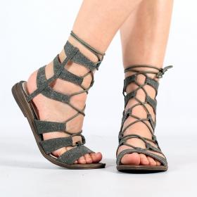 """Sandales \""""Avani\"""", Kaki"""