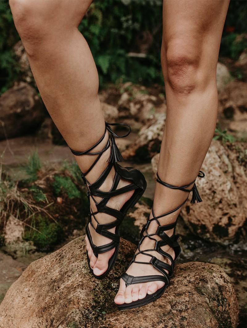 "Sandales \""Mohini\"", Noir"