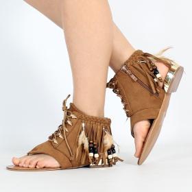 "Sandales \""Prafula\"", Camel"