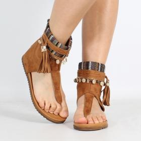 """Sandales \""""Priti\"""", Camel"""