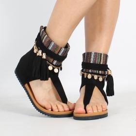 """Sandales \""""Priti\"""", Noir"""