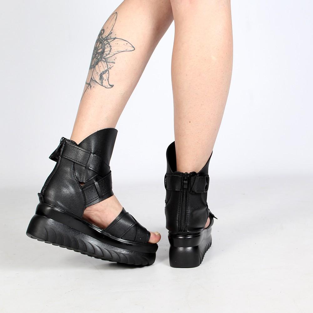 """Sandales à plateforme \""""Vaema\"""", Noir"""